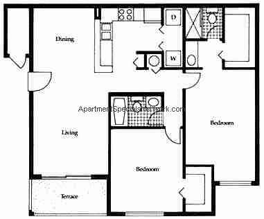 North fort lauderdale apartment rental nl131 2 bedroom for Apartment plans 1200 sq ft