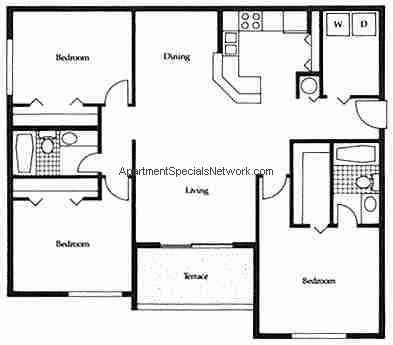 north fort lauderdale apartment rental nl131 3 bedroom