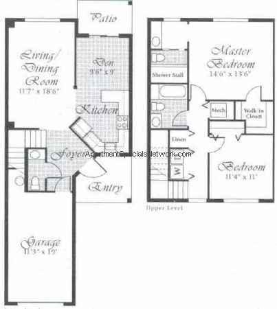 Delray Beach Apartment Rental Db141 2 Bedroom Floor Plans